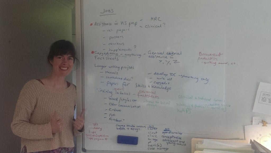 A whiteboard is a medical writer's best friend